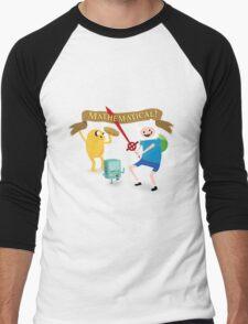 Mathematical Adventure Time! Men's Baseball ¾ T-Shirt