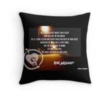 """""""Satellite"""" by Rise Against Throw Pillow"""
