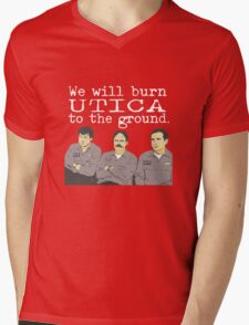 Warehouse Guys - White Text Mens V-Neck T-Shirt