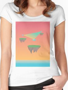Crystal Islands in The Sky Women's Fitted Scoop T-Shirt