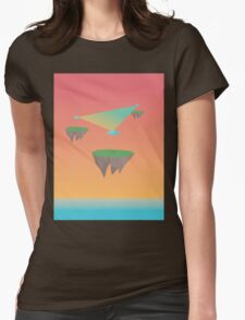 Crystal Islands in The Sky Womens Fitted T-Shirt
