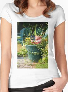 God Bless America Women's Fitted Scoop T-Shirt
