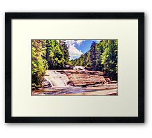 Triple Falls, Dupont Forest Framed Print