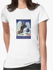 O'Er The Ramparts We Watch -- Army Air Forces Womens Fitted T-Shirt