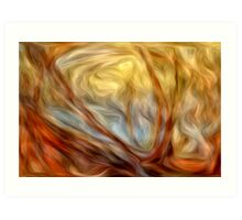 Abstract Colors Oil Painting #8 Art Print