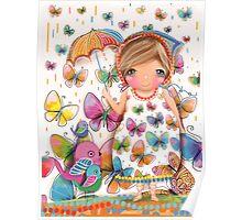 Raining Butterflies Poster