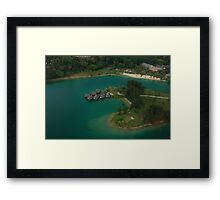 Efate by Helicopter Framed Print