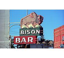 Miles City, Montana - Bison Bar Photographic Print