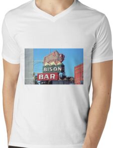 Miles City, Montana - Bison Bar Mens V-Neck T-Shirt