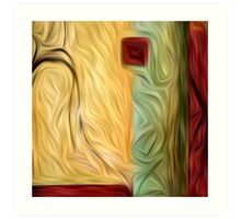 Abstract Colors Oil Painting #9 Art Print