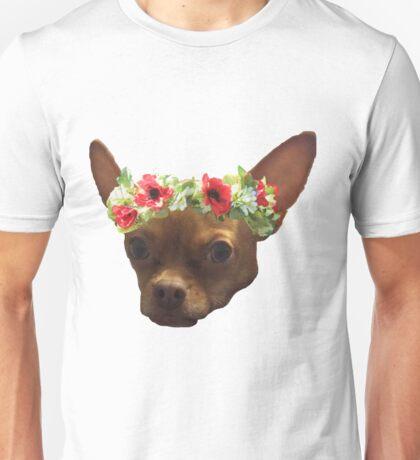 Flower Crown Chihuahua Unisex T-Shirt