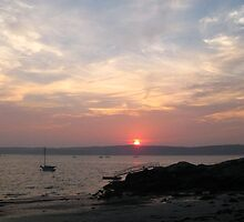 Sunset at Niles Beach, Gloucester MA by BethCarrDesigns