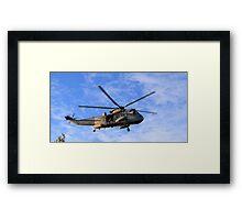 SeaKing Landing Framed Print