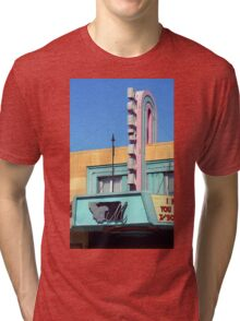 Miles City, Montana - Theater Marquee Tri-blend T-Shirt