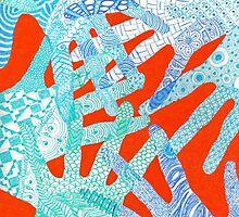 All Hands In- Orange/ Blue by DuRaae & Shelby Davis