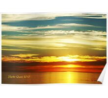 PACIFIC OCEAN SUNSET # 2 Poster