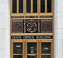 Ornate Entrance to State Office Building by Martha Sherman
