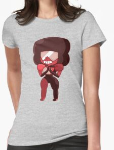Garnet Smiling Womens Fitted T-Shirt