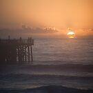 Sunrise at the Pier - Flagler Beach by Lori Botelho