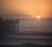 Sunrise at the Pier - Flagler Beach by Lori Botelho
