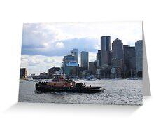 Boston Tug Greeting Card