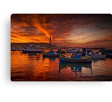 Marsaxlokk Sunrise, Malta Canvas Print
