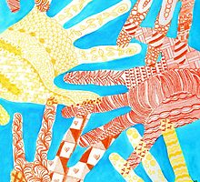 All Hands In- Blue/ Yellow by DuRaae & Shelby Davis