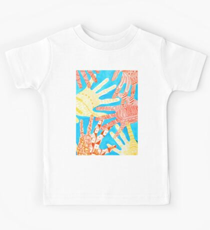 All Hands In- Blue/ Yellow Kids Tee