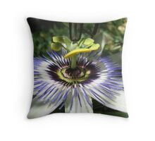 Passion Fruit Flower Throw Pillow