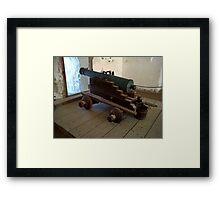 Spanish cannon Framed Print