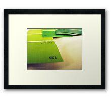 FIELD DAY Framed Print