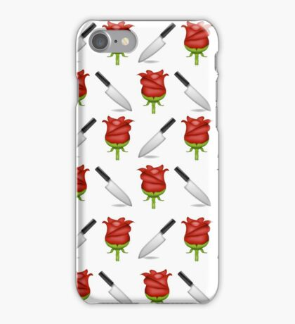 Larry Emojis - Rose and Dagger iPhone Case/Skin