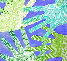All Hands In- Purple/ Green by DuRaae & Shelby Davis