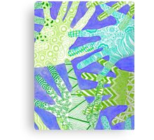 All Hands In- Purple/ Green Canvas Print