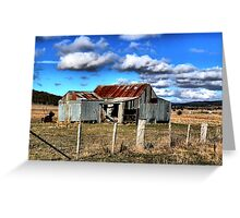Aussie shed Greeting Card