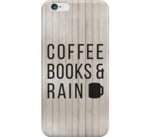 Coffee Books & Rain iPhone Case/Skin