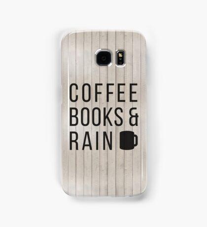 Coffee Books & Rain Samsung Galaxy Case/Skin