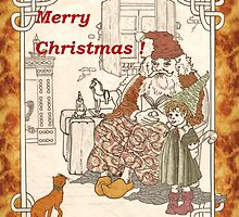 Kris Kringle's Kitty Card by redqueenself