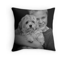 Faces of Innocence Throw Pillow