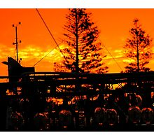 Firey End to the Day Photographic Print