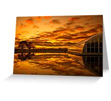 Blazing reflections Greeting Card