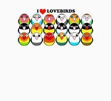 Lovebird colour mutations Unisex T-Shirt