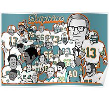 miami dolphins ring of honor Poster