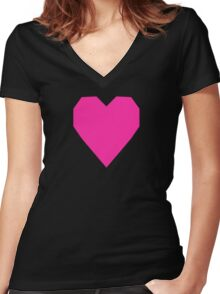 Persian Rose  Women's Fitted V-Neck T-Shirt