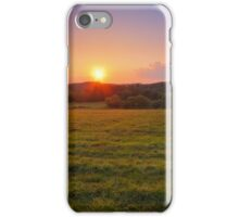 Distant Farmhouse at Sunset iPhone Case/Skin