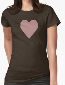 Rosy Brown  Womens Fitted T-Shirt