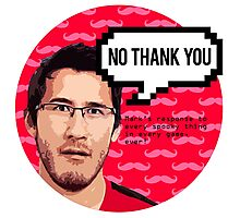 Markiplier - NO THANK YOU Photographic Print