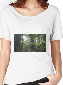 Gleaming Hope in the Forest. Women's Relaxed Fit T-Shirt