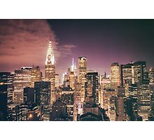 Chrysler Building - Night - New York City Photographic Print