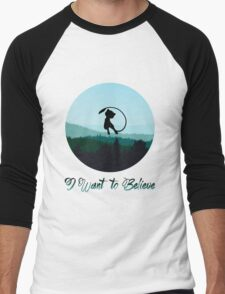 I Want to Believe in Mew Men's Baseball ¾ T-Shirt